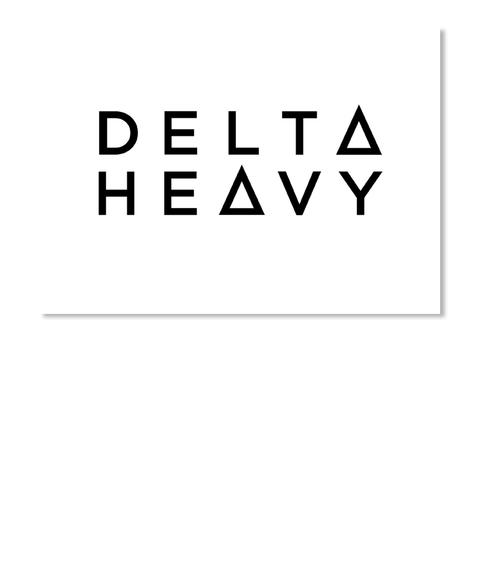 Delta Heavy White Sticker Front