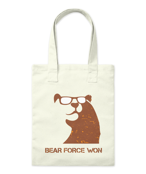 Bear Force Won Natural Tote Bag Front