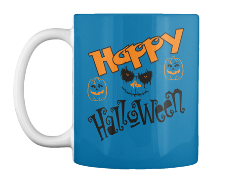 Happy Halloween Royal Blue Mug Front