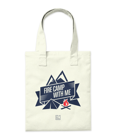 Fire Camp With Me Natural T-Shirt Back