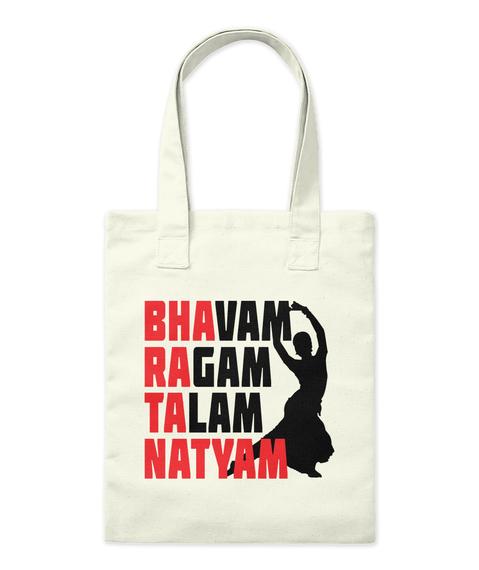 Bhavam Ragam Talam Natyam Natural Tote Bag Front