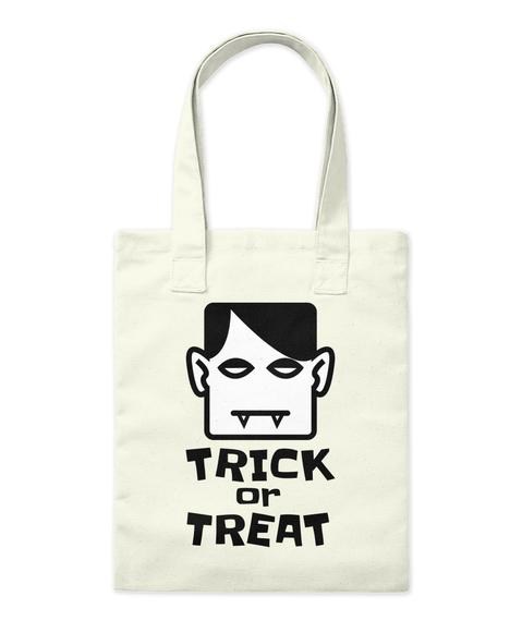 Trick Or Treat Natural Tote Bag Front