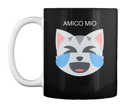Amico Mio Black Mug Front