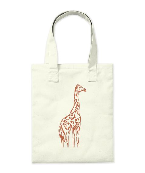 Giraffe Design Bag And Mug Tote Bag Back