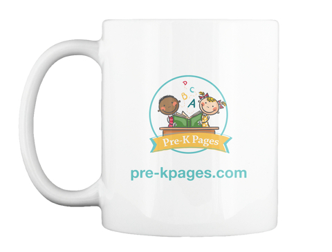 Pre Kpages.Com Pre K Pages White Becher Front