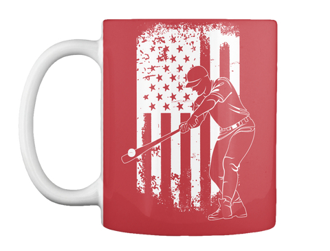The Great American Pastime   Mug Bright Red Mug Front