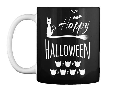 Happy Halloween Black Mug Front