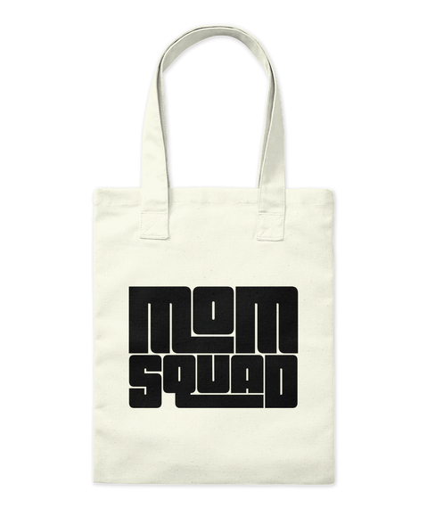 Mom Aquad Natural Tote Bag Front