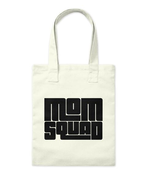 Mom Aquad Natural Tote Bag Front