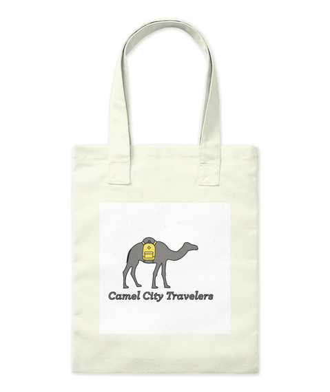 Camel City Travelers Natural Tote Bag Front