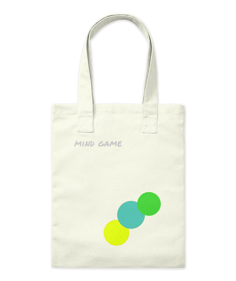 Mind Game Natural Tote Bag Front