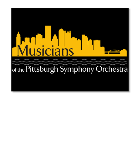 Musicians Of The Pittsburgh Symphony Orchestra Black Stiker Front