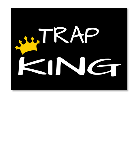 Trap King Black Sticker Front