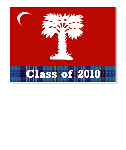 Class Of 2010 White Sticker Front
