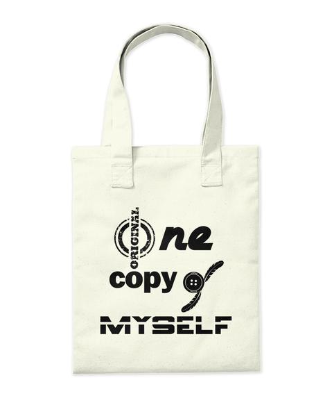 Original One Copy O F Myself Natural T-Shirt Back