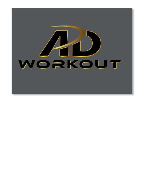 Ad Workout Dk Grey Stiker Front