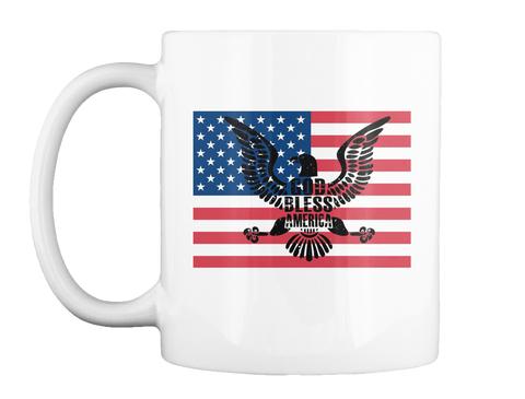 God Bless America Mug White Mug Front