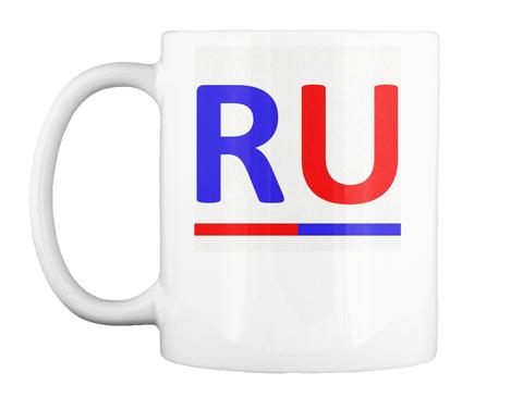 Ru Logo White Mug Front