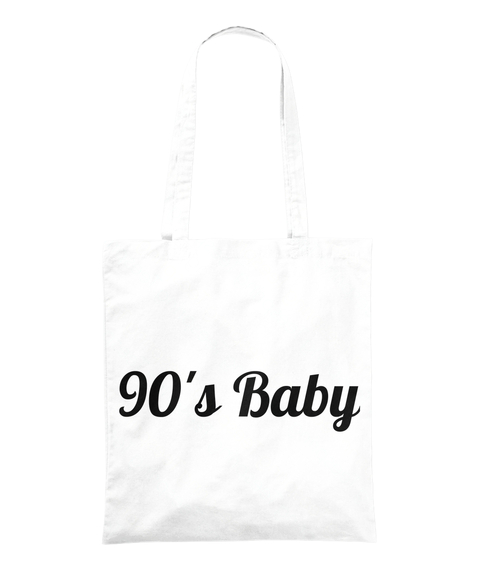 90's Baby White T-Shirt Front
