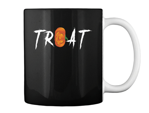 Treat Black Mug Back
