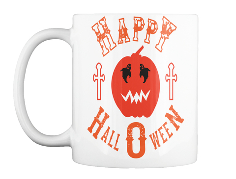 Happy Halloween White Mug Front