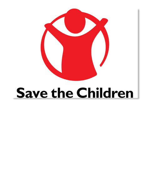 Save The Children White Adesivo Front