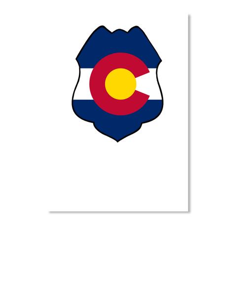 Police badge colorado state flag sticker
