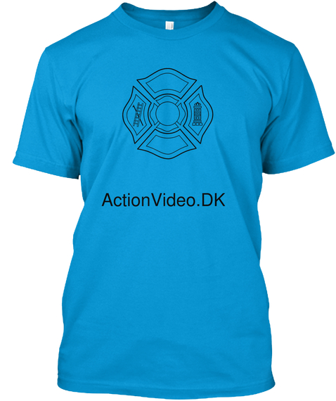 Action Video.Dk Teal T-Shirt Front