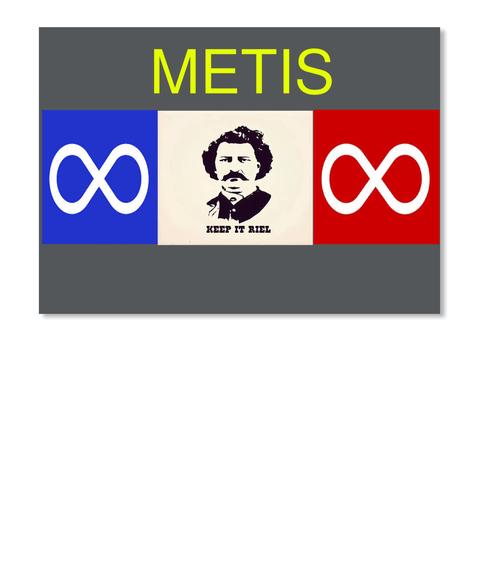 Metis Keep It Riel Dk Grey Sticker Front