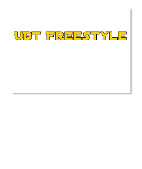 Ubt Freestyle White Sticker Front