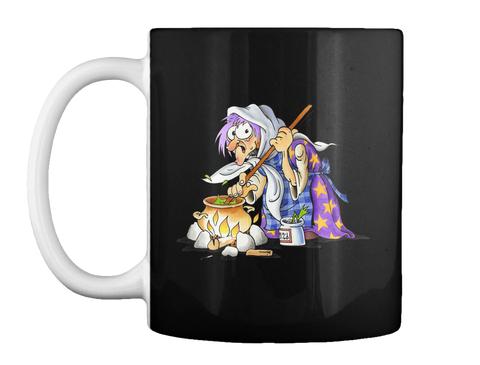 Purple Witch Halloween Mugs  Black Mug Front