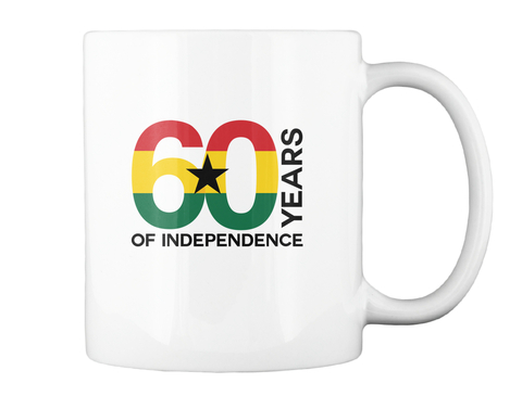 """Freedom And Justice"" Mug   White White Mug Back"