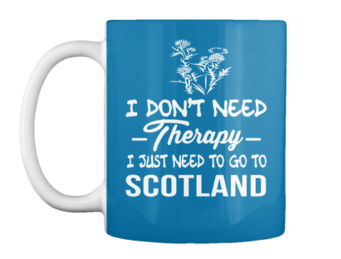 I Don't Need Therapy I Just Need To Go To Scotland Royal Blue T-Shirt Front