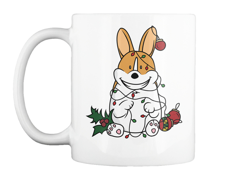 christmas corgi mug white mug front - Christmas Corgi