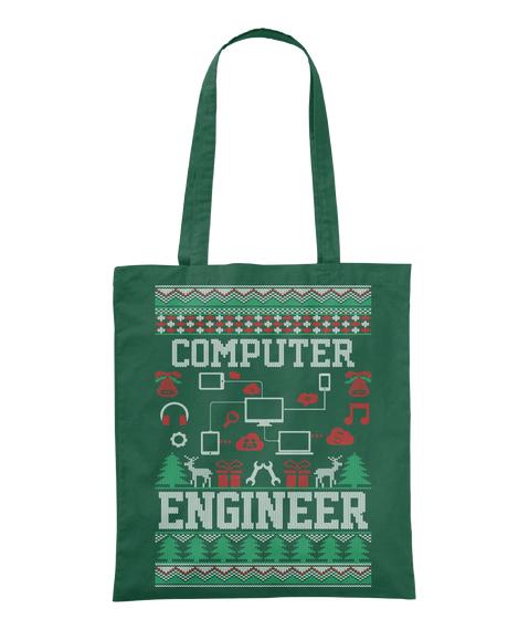 Computer Engineer Bottle Green Tote Bag Front