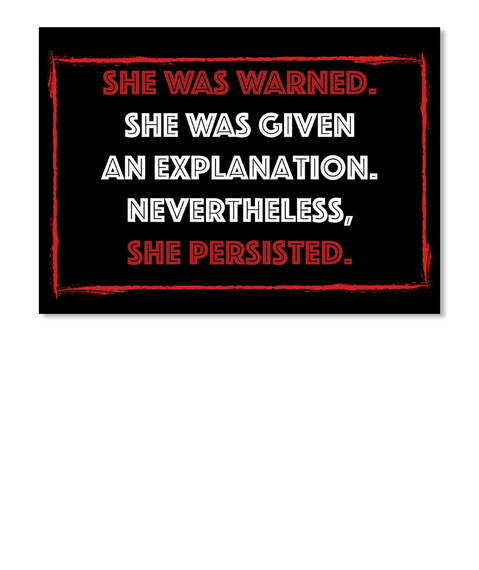 She Persisted ... Black Sticker Front