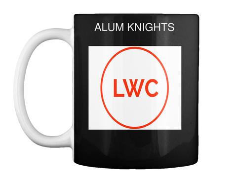 Alum Knights Lwc Black Mug Front