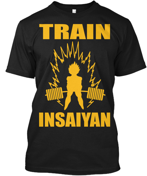 Train Insaiyan Black T-Shirt Front