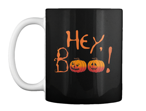 Hey Boo! Black Mug Front
