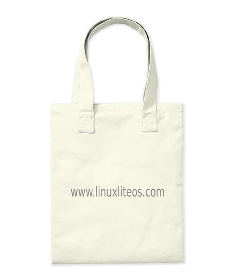 Linux Lite   Tote Bag Natural Tote Bag Back