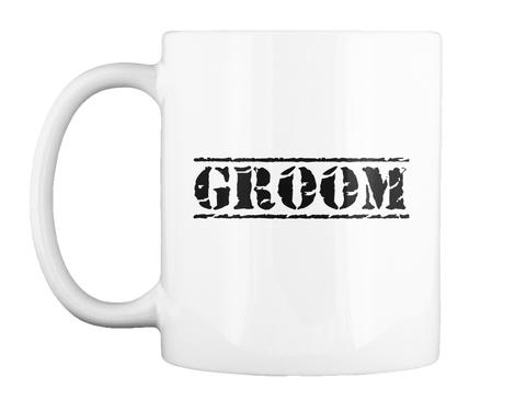 Groom White Becher Front