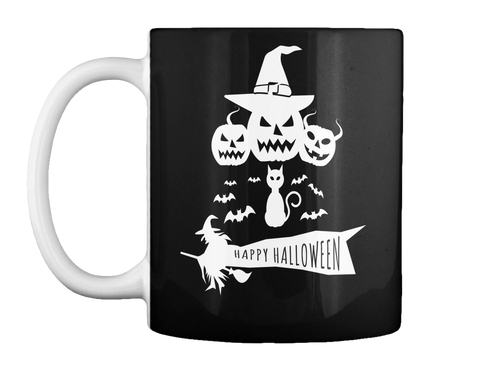 Happy Halloween Black Mug Front