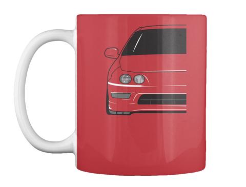 Teggy Mugs Bright Red Mug Front