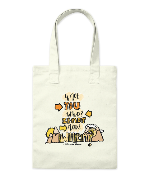 Y Lot You Who If Not Now When Natural Tote Bag Front