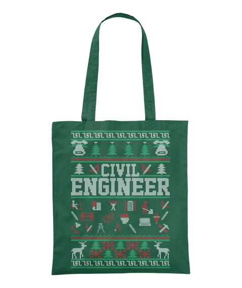 Civil Engineer Bottle Green Tote Bag Front