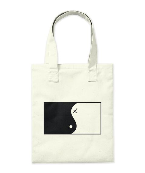 Ying Yang Artwork Accessoires Natural Tote Bag Back