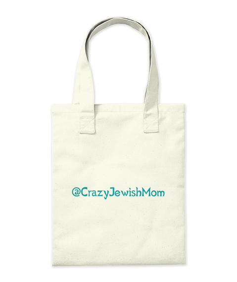 @Crazyjewishmom Natural Tote Bag Back