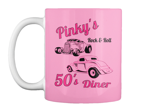 Pinky's Rock & Roll 50' S Diner Pink Mug Front