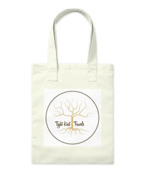Tight Kuit Travels Natural Tote Bag Front