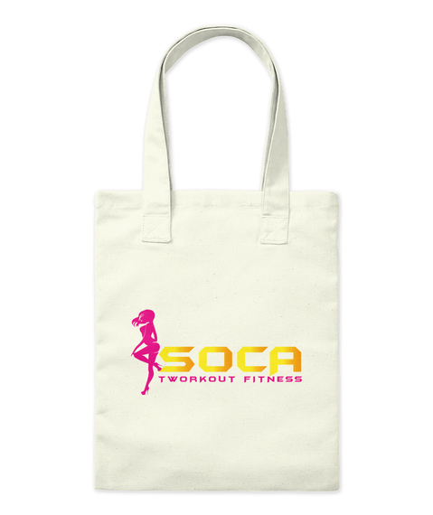 Soca Tworkout Fitness Natural Tote Bag Front